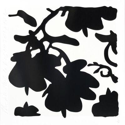 Donald Sultan, 'Lantern Flowers - Black/White background', 2017