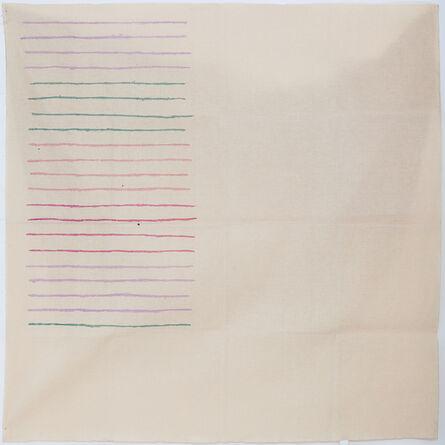 Giorgio Griffa, 'LINEE ORIZZONTALI', 1976