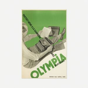 Francis Bernard, 'Olympia Portable Typewriter poster', 1936