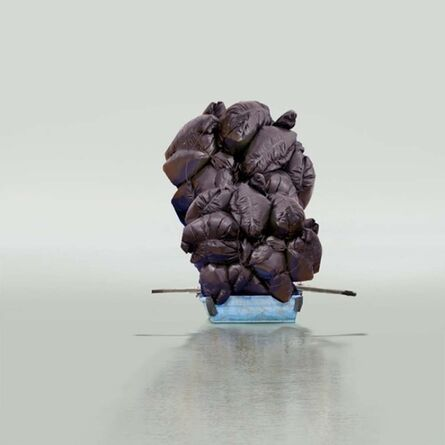 Mary Mattingly, 'Floating a Boulder', 2012