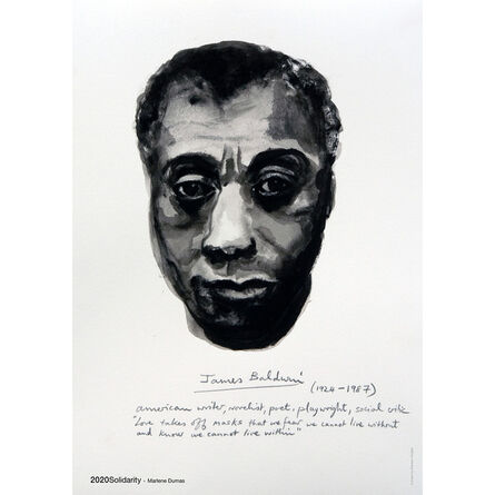 Marlene Dumas, 'James Baldwin (from the series Great Men) limited time release poster', 2020