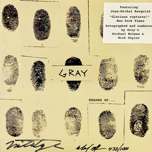 Jean-Michel Basquiat, 'Basquiat Gray vinyl record art ', 2013
