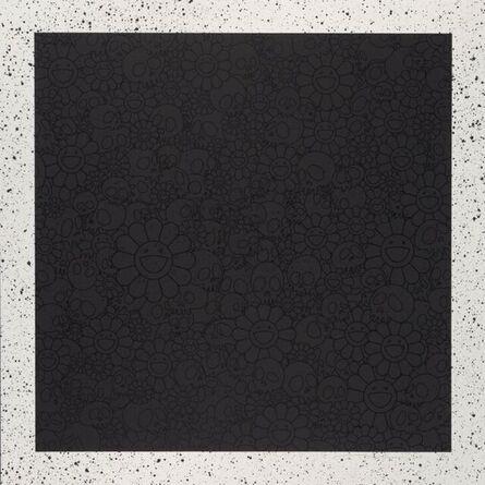 Takashi Murakami, 'Black Skulls and Flowers Square for BLM ', 2020