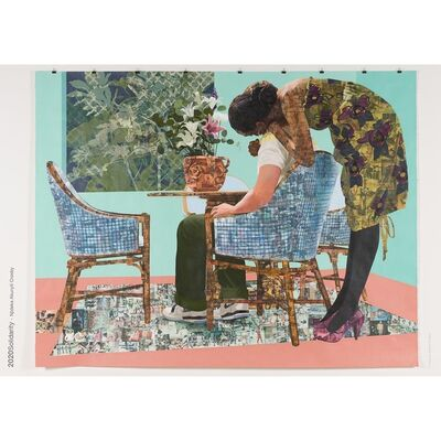 """Njideka Akunyili Crosby, '""""Blend In - Stand Out"""" limited release poster', 2020"""