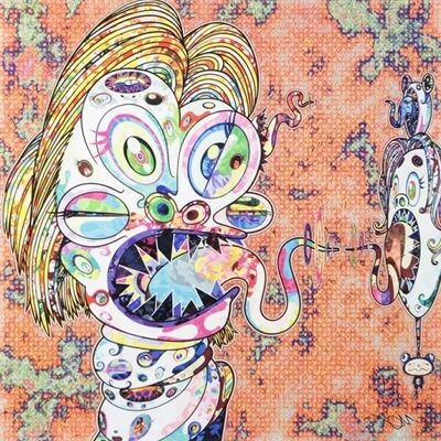 Takashi Murakami, 'Homage to Francis Bacon (Study for Head of Isabel Rawsthorne and George Dyer) Left ', 2016