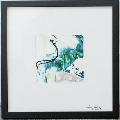 Whitney Pintello, 'Push/Pull No. 2- Small Blue Abstract Painting ', 2020