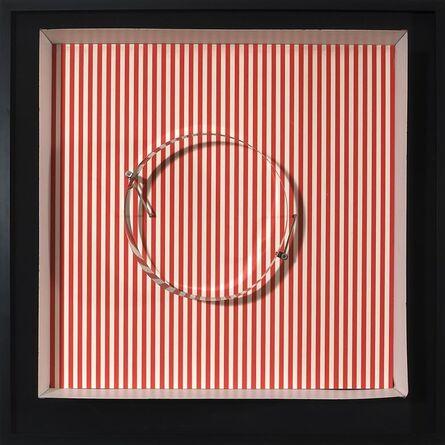 Julio Le Parc, 'Circle en contorsion sur trame rouge', 1969