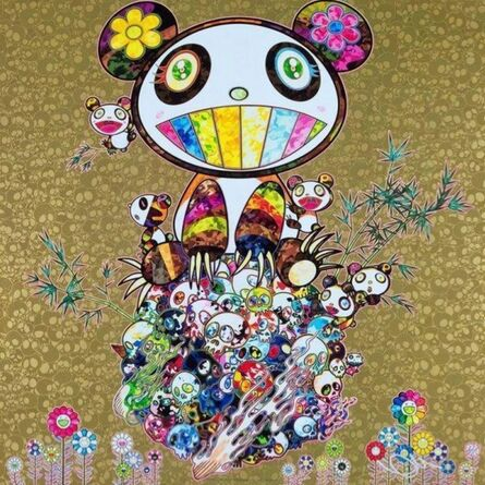 Takashi Murakami, 'Panda Family Gold', 2016