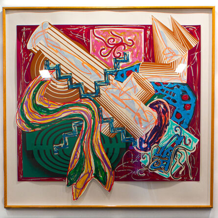 """Frank Stella, ':Then came a stick and beat the dog""""', 1984"""