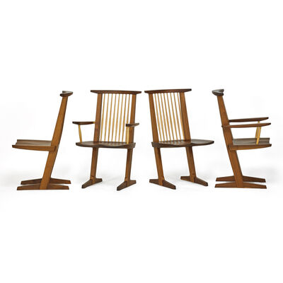Mira Nakashima, 'Four Conoid Chairs, Two Arm, Two Side, New Hope, PA', 2000