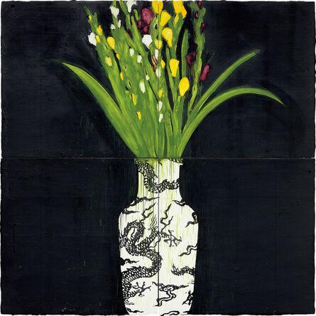 Donald Sultan, 'Gladiolas in a Chinese Vase Nov 9 1989', 1989
