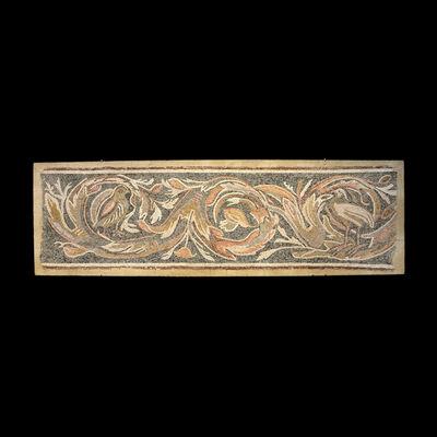 Unknown Roman, 'Roman-Byzantine Mosaic Depicting Two Birds', 300 AD to 600 AD
