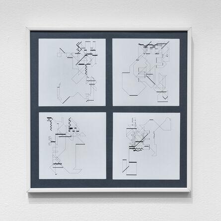 Manfred Mohr, 'P-018-mf_11, 14, 20, 21', 1969