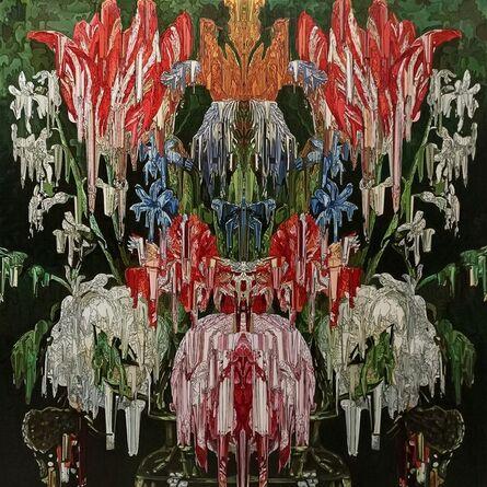 Alexis Mata, 'Ejercicio de Caleidoscopio en tulipanes, rosas, claveles y mariposas', 2021