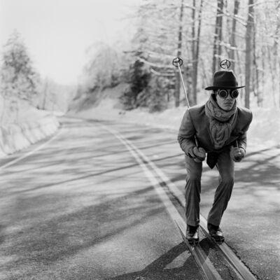 Rodney Smith, 'Reed Skiing in Road, Lake Placid, NY', 2008