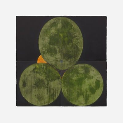 Donald Sultan, 'Three Old Limes and an Orange August 30 1988 (in four parts)', 1988