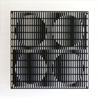 Antonio Asis, 'Vibration quatre cercles noir et blanc', 2012