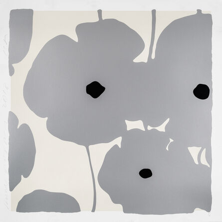 Donald Sultan, 'Silver Poppies', 2018