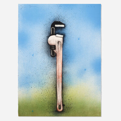 Jim Dine, 'Big Red Wrench in a Landscape (from the Hommage a Picasso portfolio)', 1973