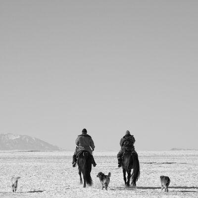 Matthew Webb, 'Green horsepower (Kyrgyz Shepherds, Charyn Canyon, Kazakhstan)', 2011