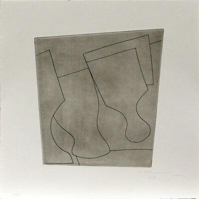 Ben Nicholson, 'two & a half goblets', 1967