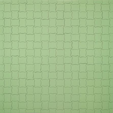 Wu Shanzhuan & Inga Svala Thórsdóttir, 'Color Code of a World Political Map, Little Fat Flesh Puzzled Face (White Green) ', 2013