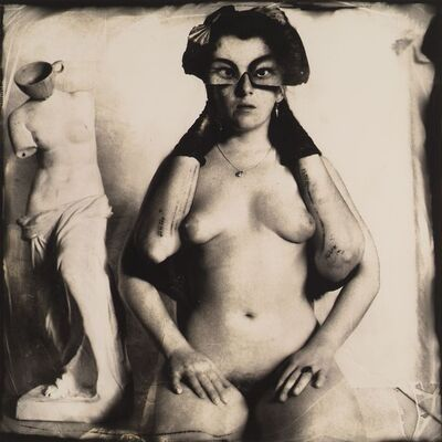 Joel-Peter Witkin, 'Arms broken by windows', 1980