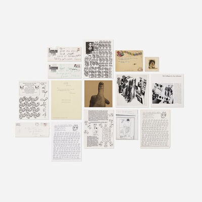 Ray Johnson, 'collection of art and ephemera'