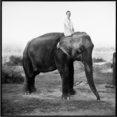 Arthur Elgort, 'Kate Moss on Elephant, British Vogue', 1993