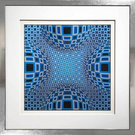 Victor Vasarely, 'Enigma - Four Blue Spheres ', 1980