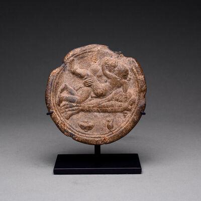 Unknown Roman, 'Roman Lead Erotic Plate', 100 AD to 300 AD