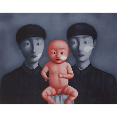 Zhang Xiaogang, 'Comrades with Red Baby (from Bloodline series)', 2006