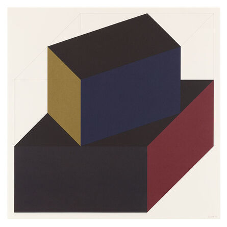 Sol LeWitt, 'Forms Derived from a Cube (Colors Superimposed) 6', 1991