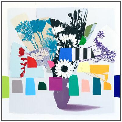 Emily Filler, 'Vintage Bouquet Mini (Black + White Stripes)', 2021