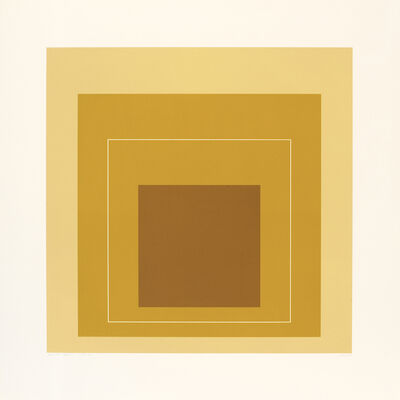 Josef Albers, 'WLS XIV (from White Line Squares', 1966