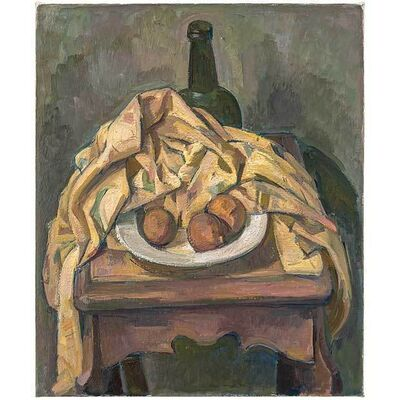 Wilbur Niewald, 'Still Life with Yellow Cloth and Dried Oranges', 2014