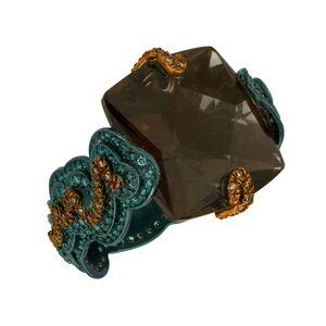 William Ehrlich, 'Zig Zag Ring (Orange & Blue Diamonds with Smokey Topaz)', 2015