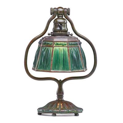 Tiffany Studios, 'Linenfold harp table lamp, New York', early 20th C.