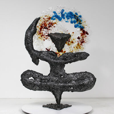 Philippe Buil, 'Purple Calligraphy Sculpture', 2019