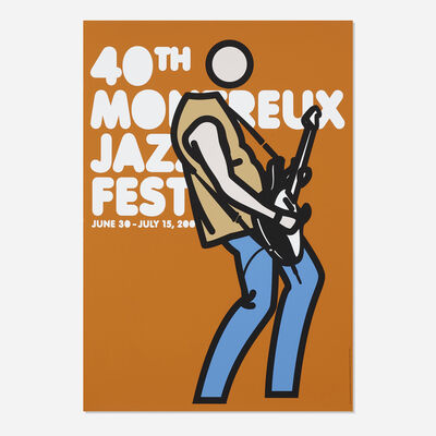 Julian Opie, 'Steve Guitar (40th Montreux Jazz Festival poster)', 2006