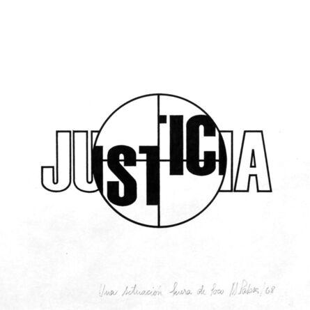 Margarita Paksa, 'Justicia. de la serie Fuera de foco', 1968