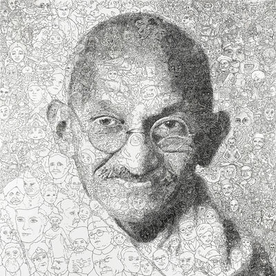 Keita Sagaki, 'Hystorical Portraits vol. 3 - Mahatma Gandhi', 2020
