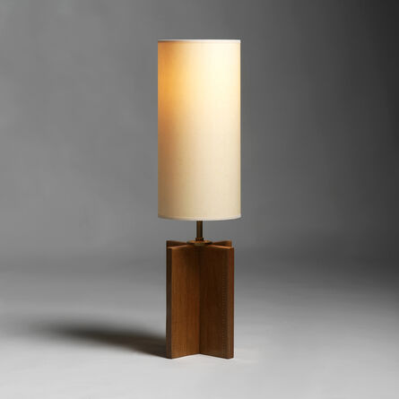 André Sornay, 'A lamp (one of a pair). Cylindrical shade.', ca. 1937