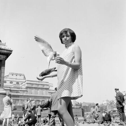James Barnor, 'Erlin Ibreck at Trafalgar Square', ca. 1966