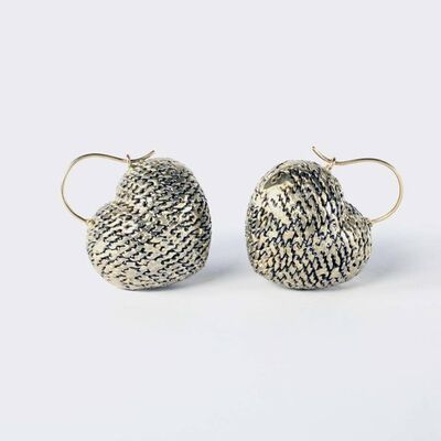 Lola Brooks, 'chainedheart (earrings)', 2018