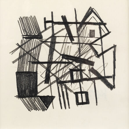 Keith Vaughan, 'Abstract Composition, windows and gables', 1955