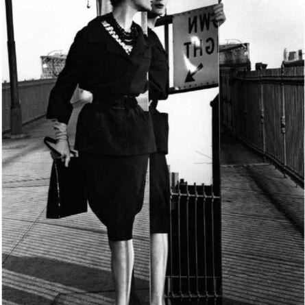 William Klein, 'Mirrors, Bridge (Vogue)', 1962