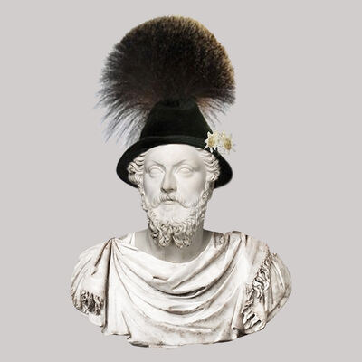 Cecilia Miniucchi, 'Roman Emperor Marcus Aurelius/Gamsbart German Hat', 2018