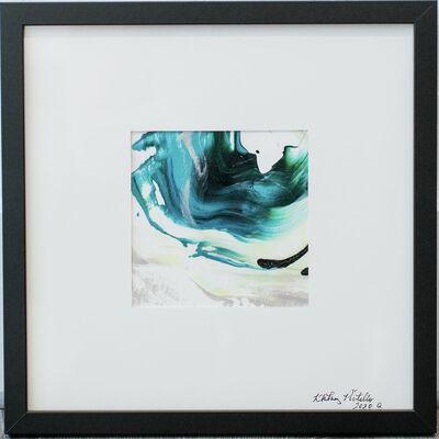 Whitney Pintello, 'Push/Pull No. 1- Three Part Abstract Blue Painting Series', 2020