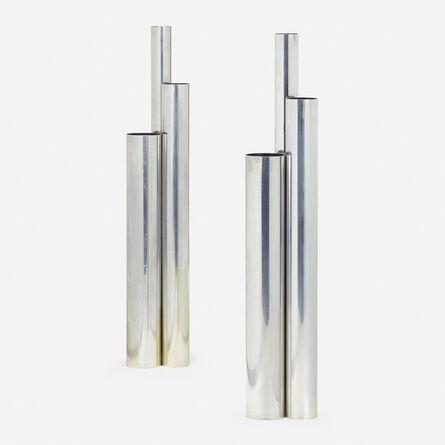 Vladimir Kagan, 'Skyscraper floor lamps, pair', c. 1970